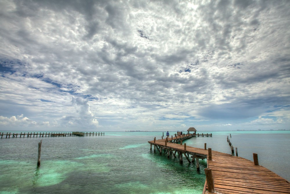 a dock in the ocean on Isla Mujeres, Quintana Roo