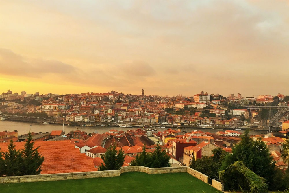 Porto, Portugal at sunset