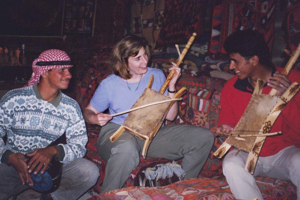 wendy perrin playing music in Jordan