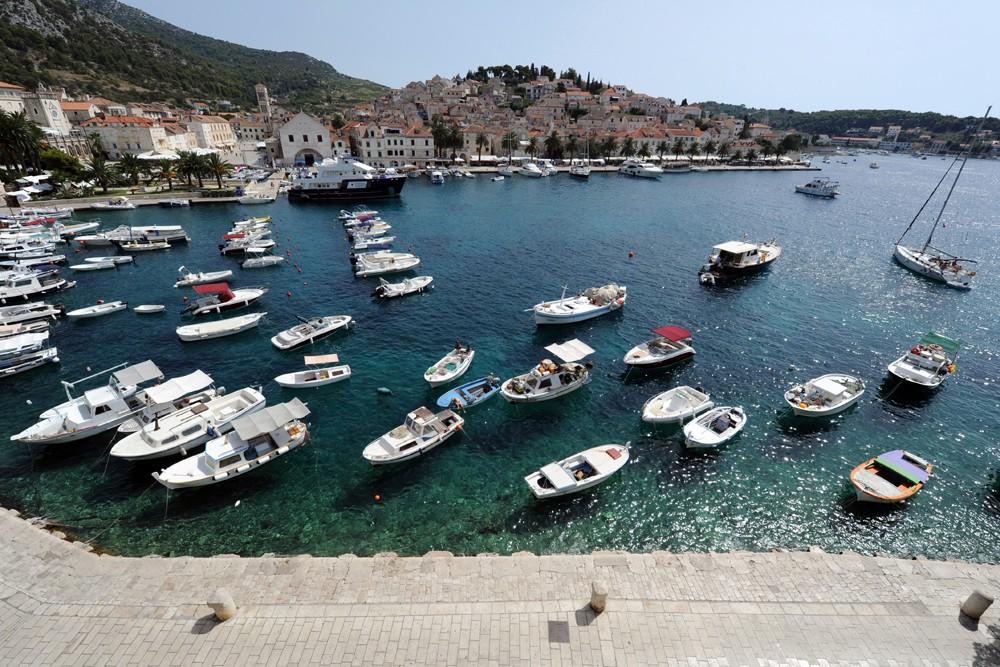 Hvar Croatia boats in marina