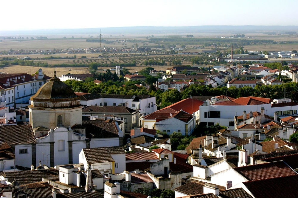 The village of Evora in the Alentejo, Portugal