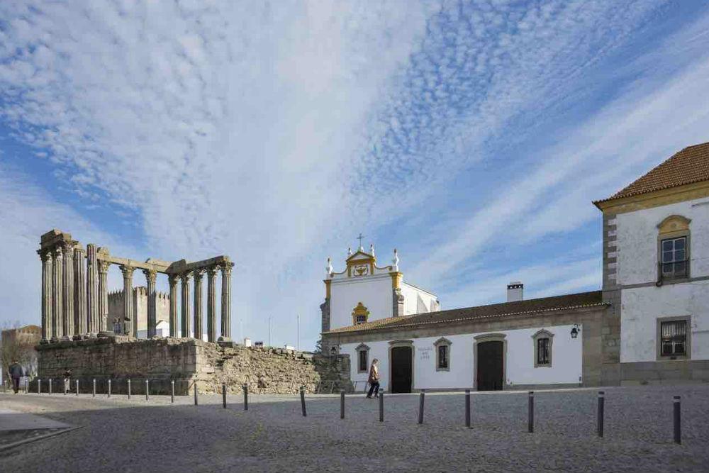 The Roman Temple in Evora, The Alentejo Portugal