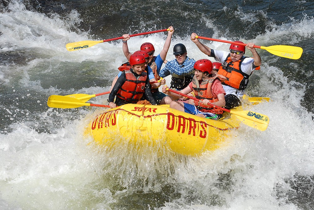 people white-water Rafting in the american west
