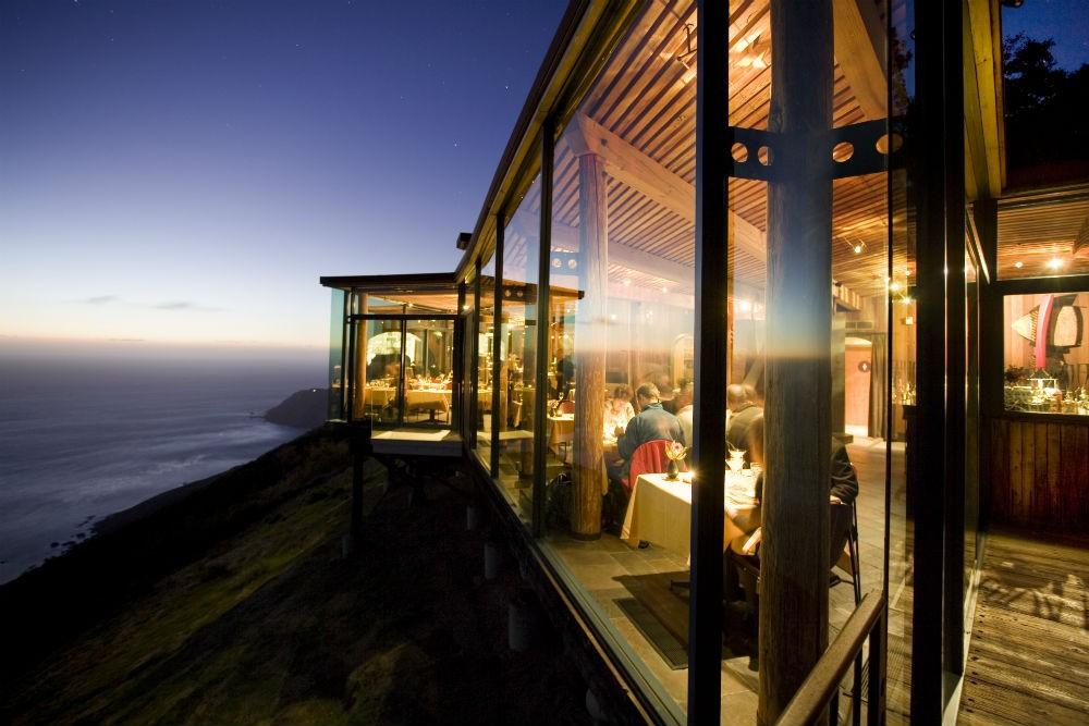 The ocean view from Sierra Mar restaurant at Post Ranch Inn California