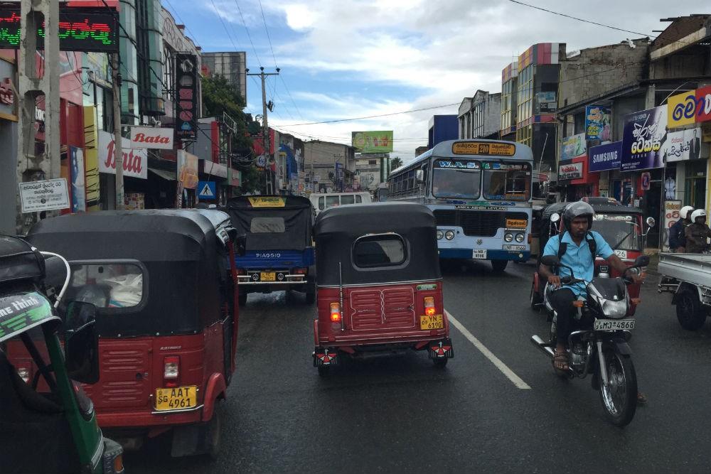 traffic on a street