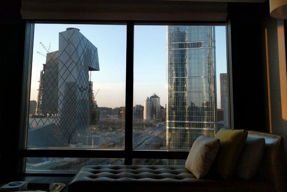 Beijing skyline from Rosewood Hotel