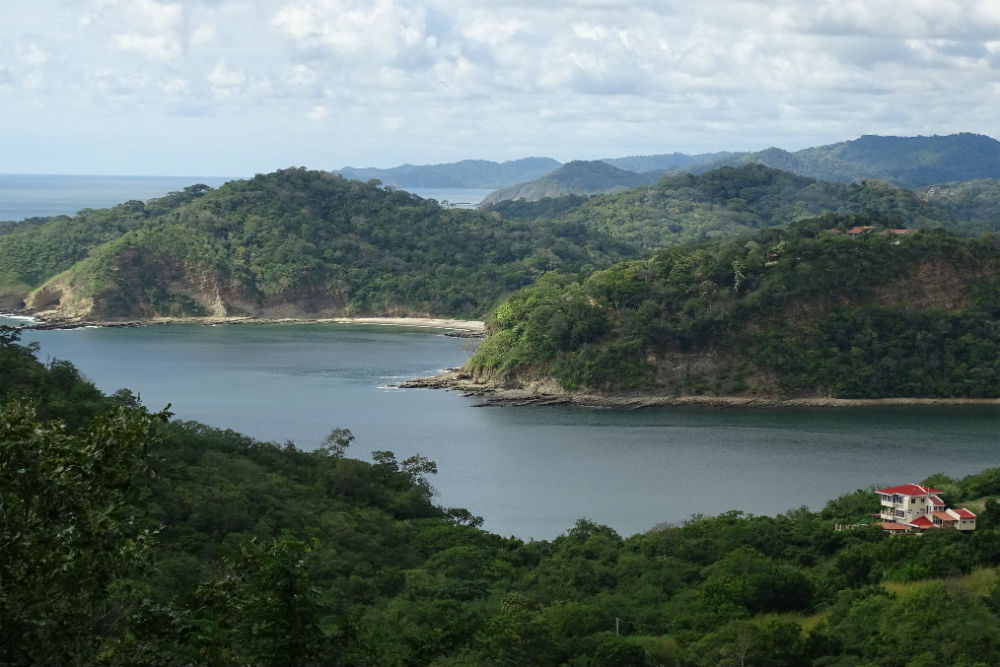 View north along the San Juan River, near San Juan del Sur, Nicaragua