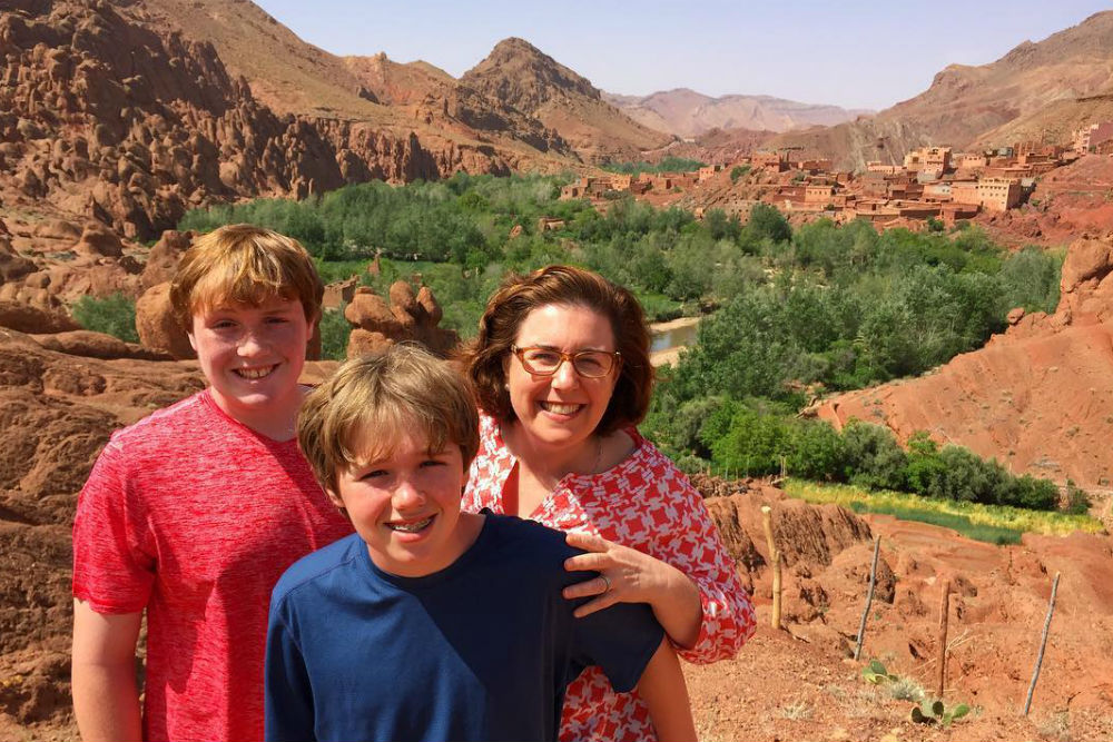 family picture at dades gorges Morocco