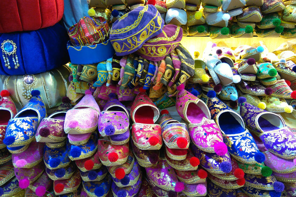 crafts shoes and hats at Grand Bazaar Istanbul