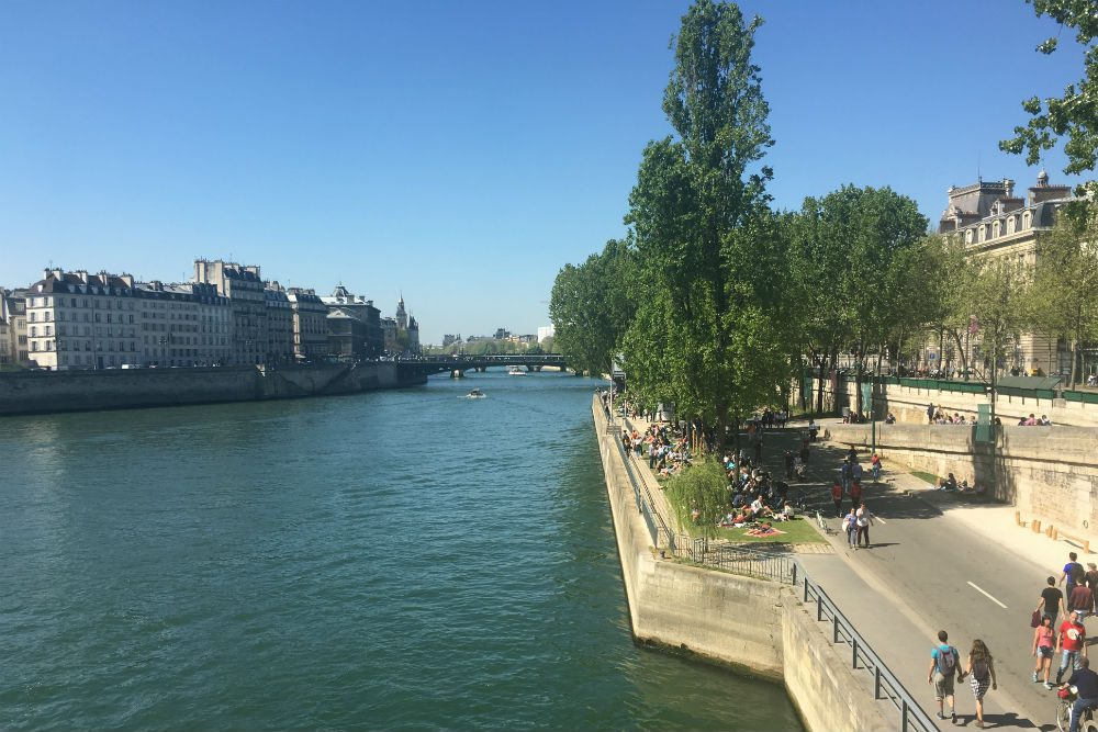 Ile Saint-Louis in the river seine paris