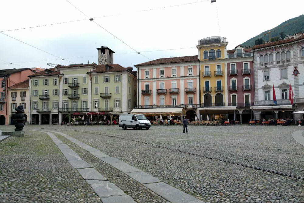 Old Town Piazza Grande Locarno Ticino Switzerland