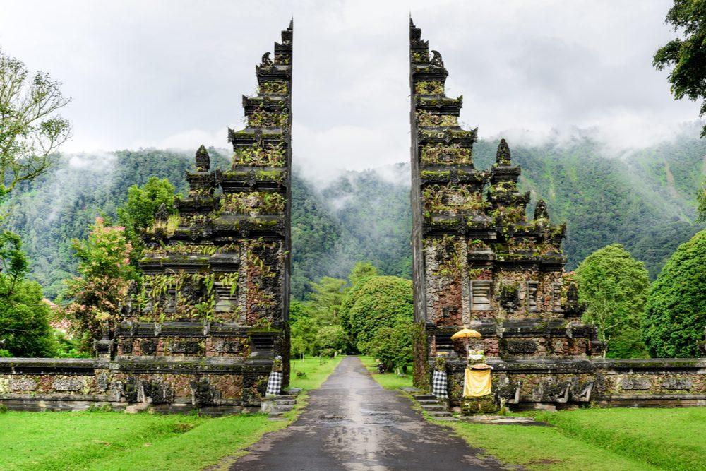 Hindu temple gates Bali, Indonesia
