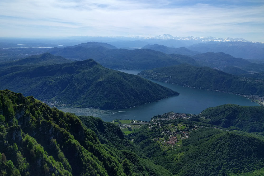 View from Monte Generoso Ticino Switzerland