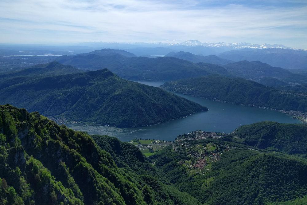 View from Monte Generoso Ticino Switzerland