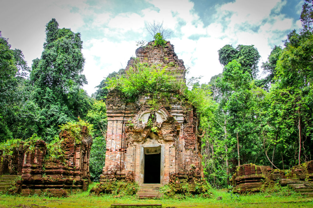 Phnom Kulen Temple in Angkor Archaeological Park Cambodia