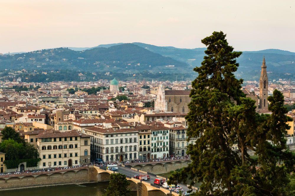 Michelin-starred restaurant La Leggenda dei Frati in Florence, Italy