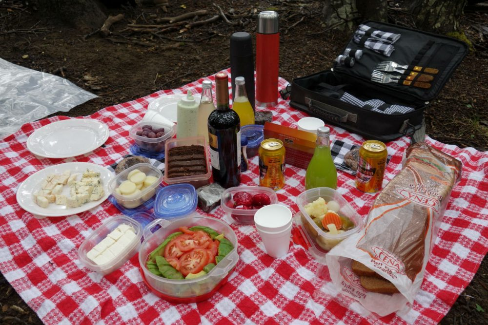 Patagonia picnic spread
