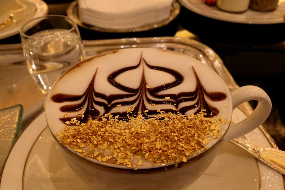 fancy Cappucino at Emirates Palace abu dhabi