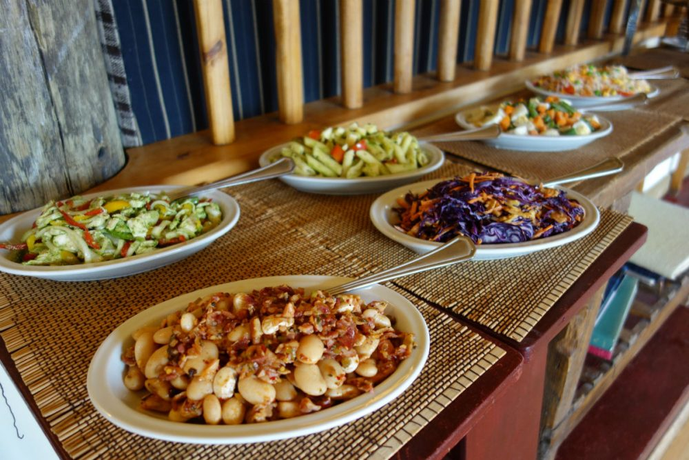 lunch dishes at Estancia Cristina in Argentine Patagonia