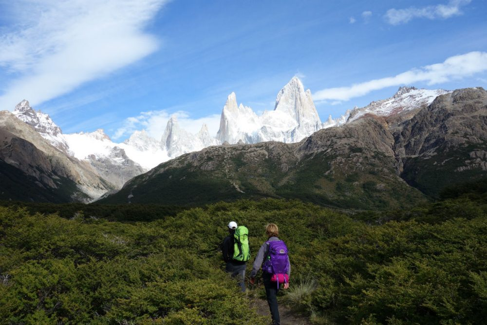 A view of Mount Fitz Roy from the trail