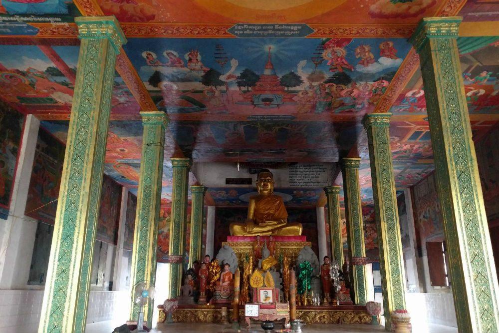 beautiful pagoda at Phnom Krom outside Siem Reap Cambodia