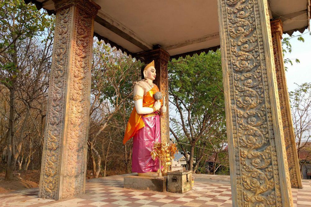 Phnom Krom Cambodia outdoor shrine