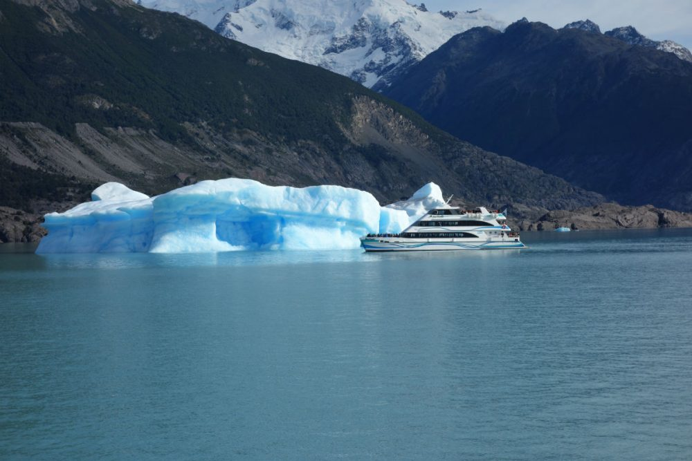 an iceberg in Lago Argentino Patagonia