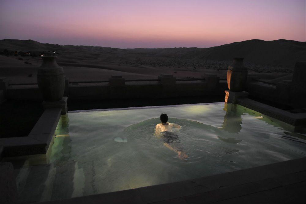 Qasr al Sarab hotel villa pool Abu Dhabi