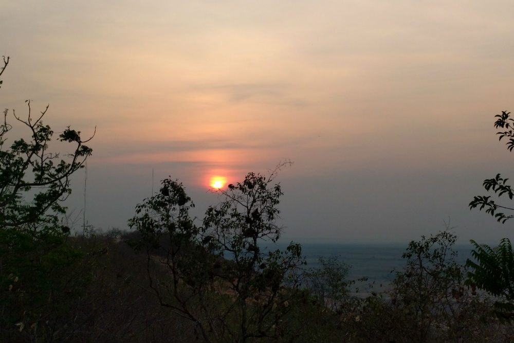 sun rise over the Tonle Sap Lake valley Cambodia