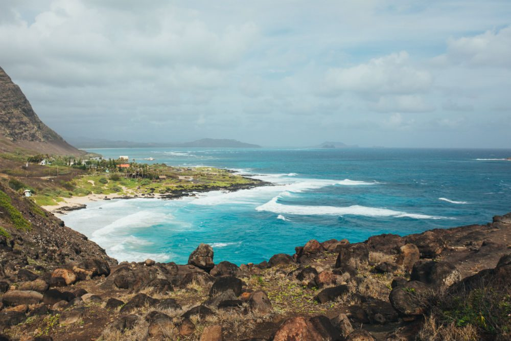 View from the Makapuu Point Lookout, Oahu Hawaii