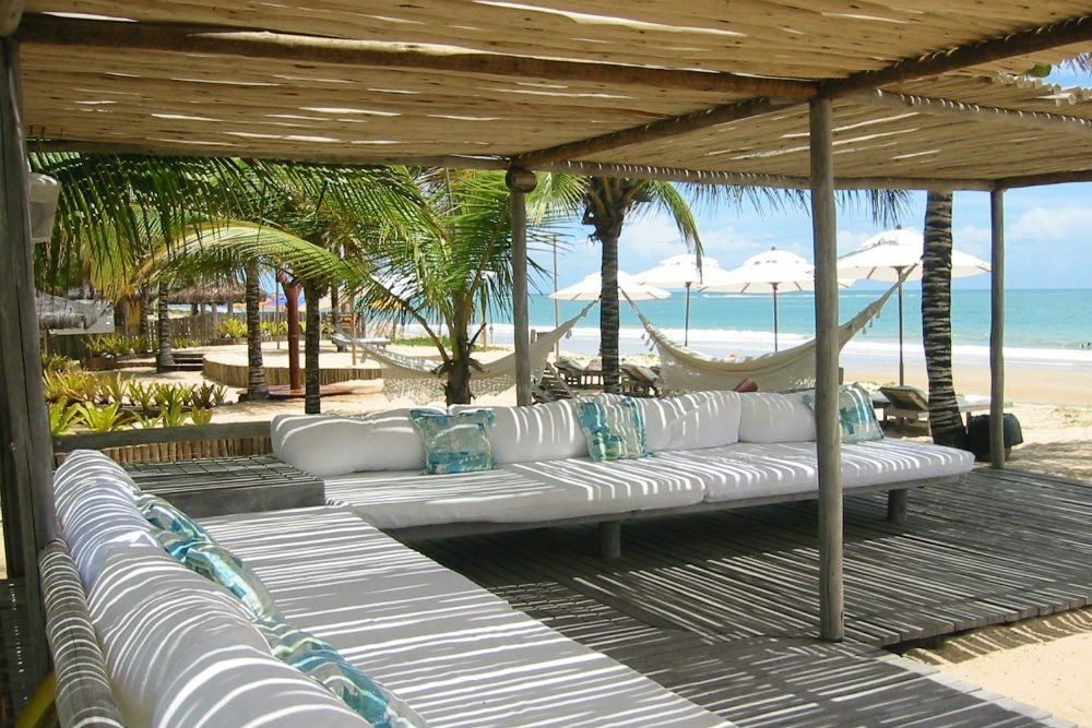 The beach lounge at Villas de Trancoso Brazil