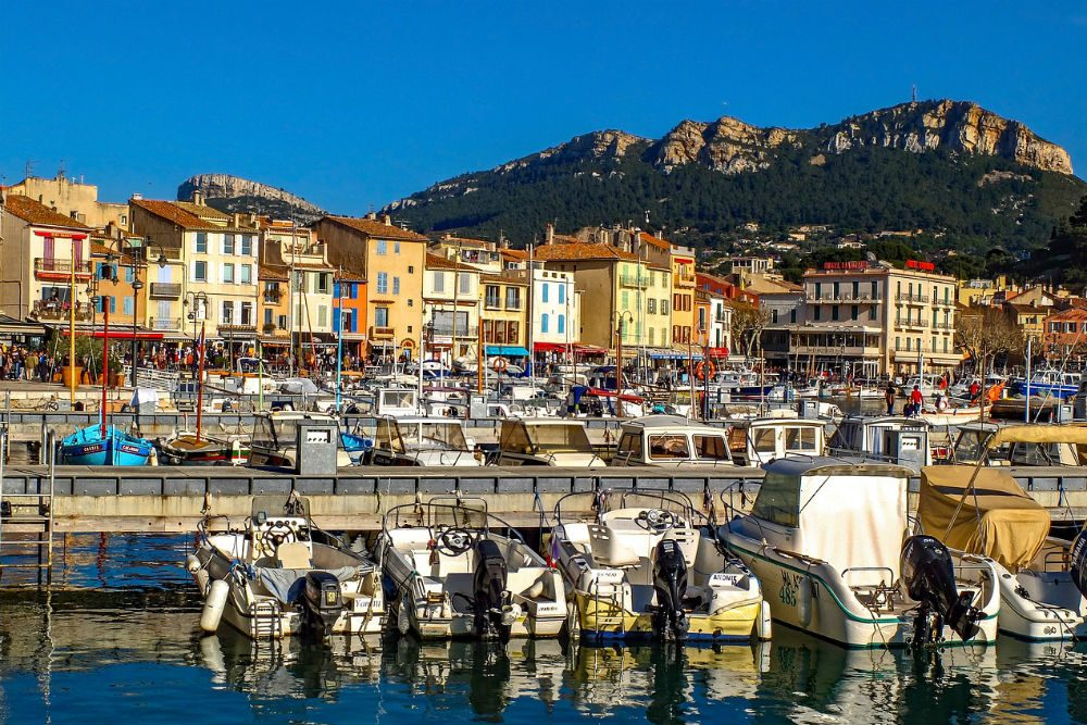 boats in cassis, provence france