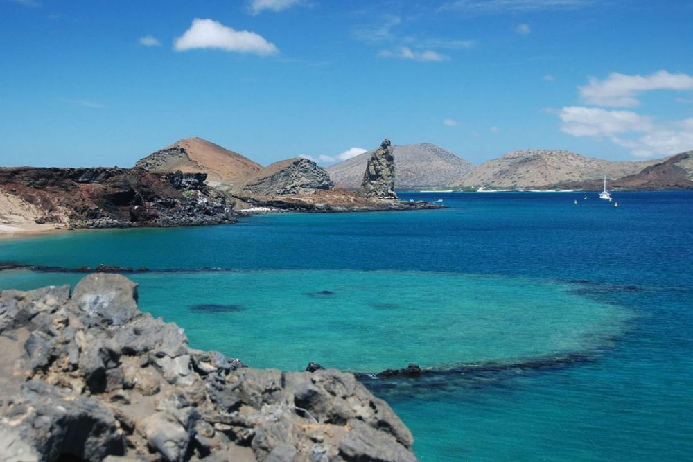 clear blue water of the Galapagos Islands Ecuador