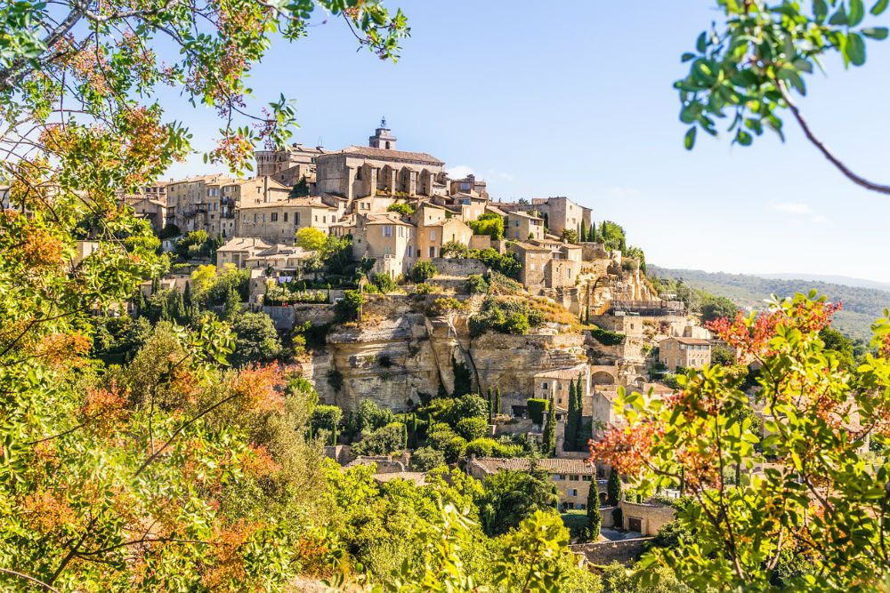 the hilltop village of Gordes, Provence, France