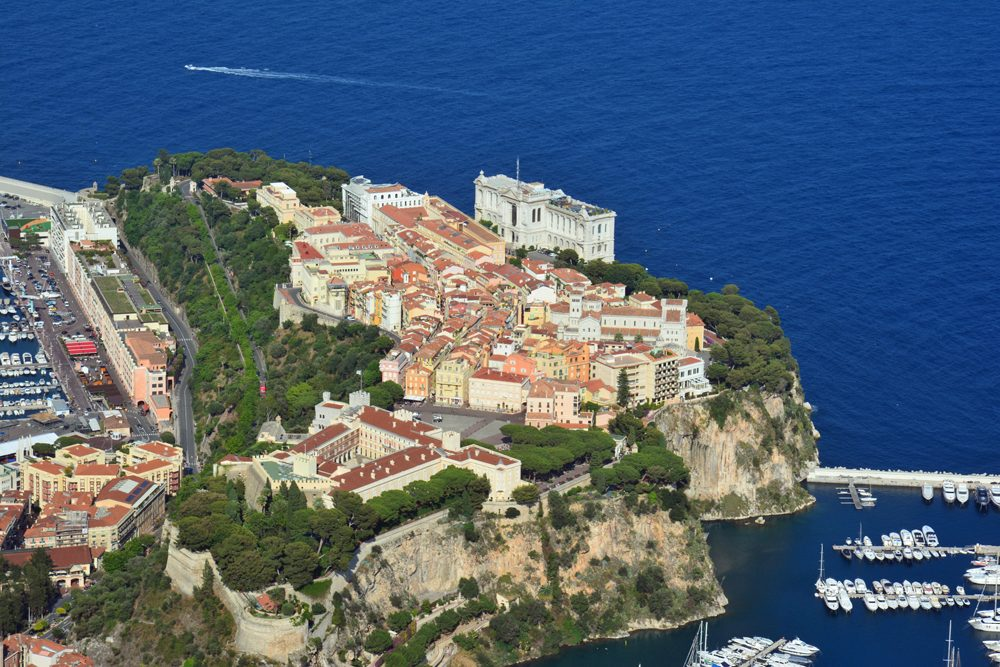 Monaco view from tete de chien rock, Provence.