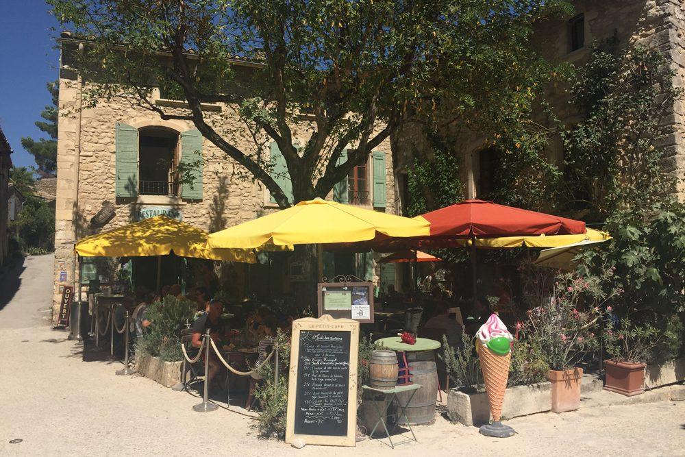 Le Petit Café in the village of Oppède le Vieux, Provence France