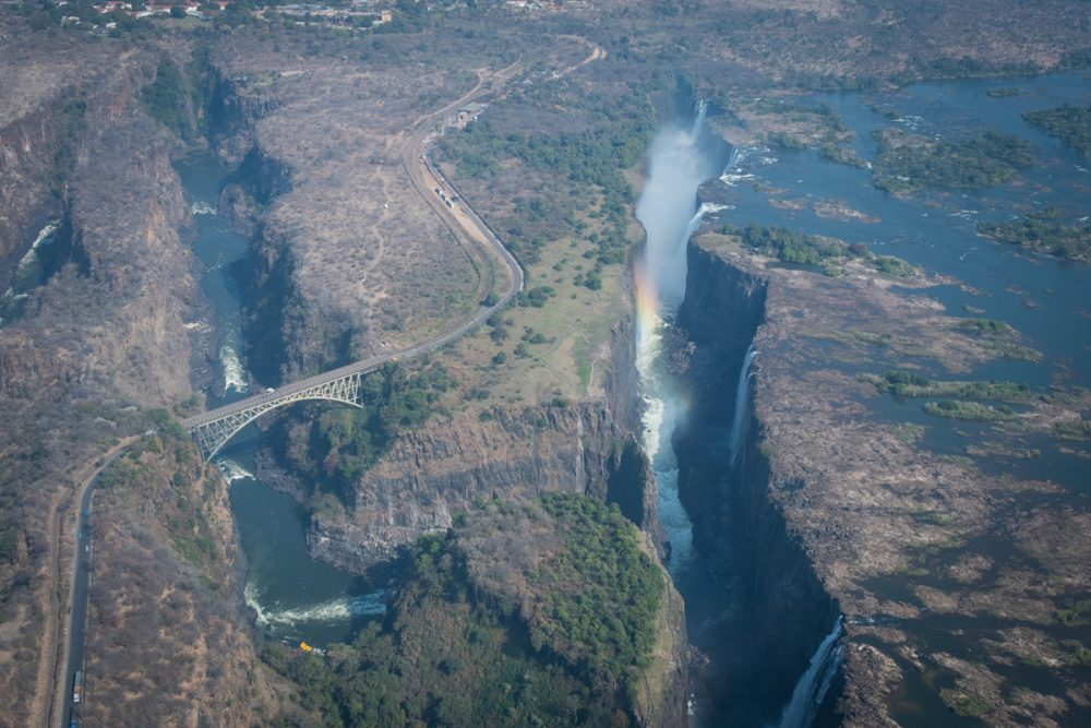 A helicopter flight over Victoria Falls can bring the area's geological history to life.