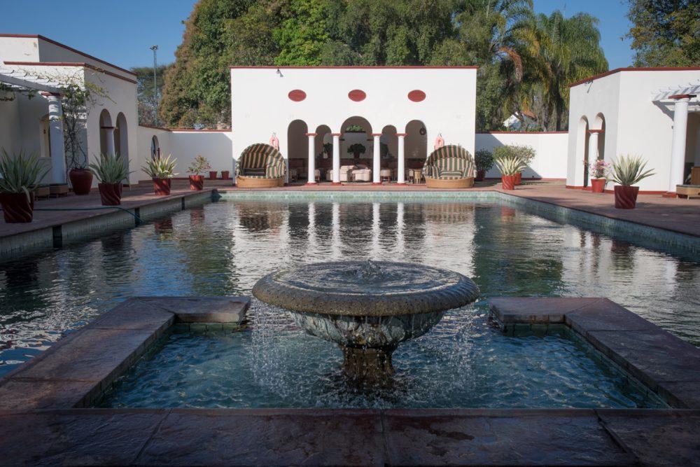 The Victoria Falls Hotel's pool.