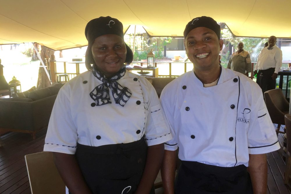 Our chefs, Adelina and Aubrey