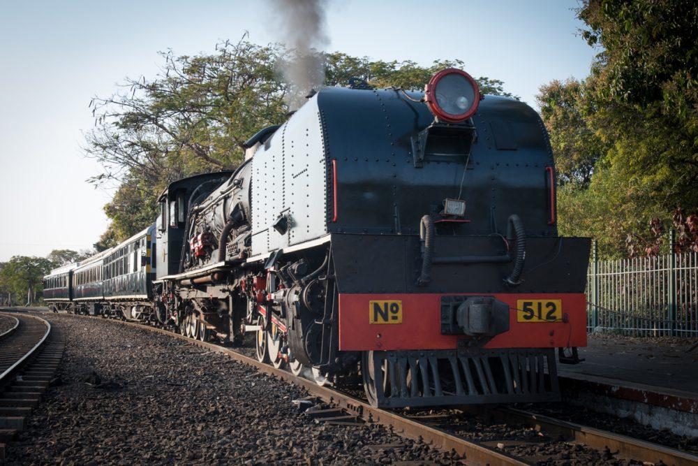 The Bushtracks Express train that goes to Victoria Falls Bridge