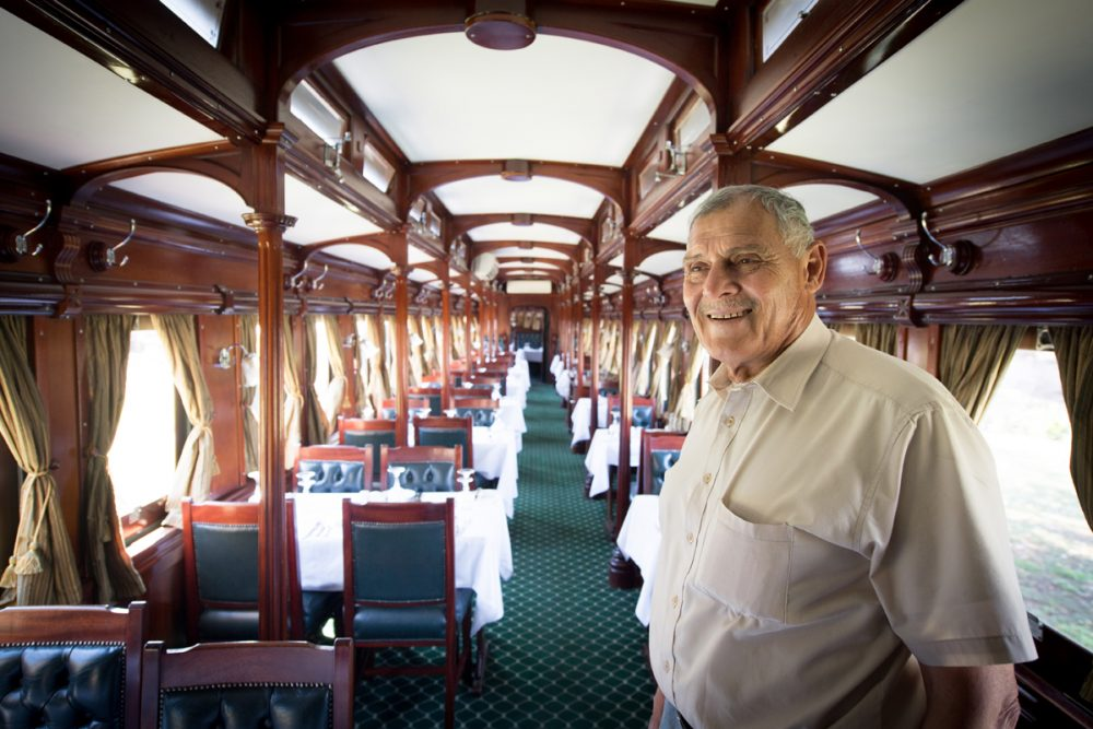 Ben Costa is the man who refurbishes the vintage trains that Bushtracks Express uses.