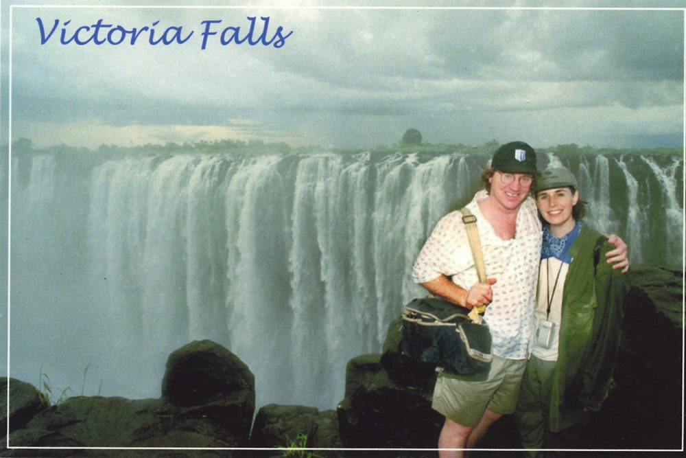 Here we are on our first trip to the Falls, back in 1999.