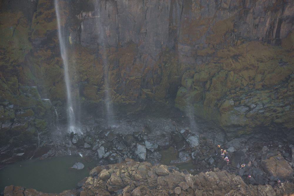 In dry season you can walk below the waterfall.