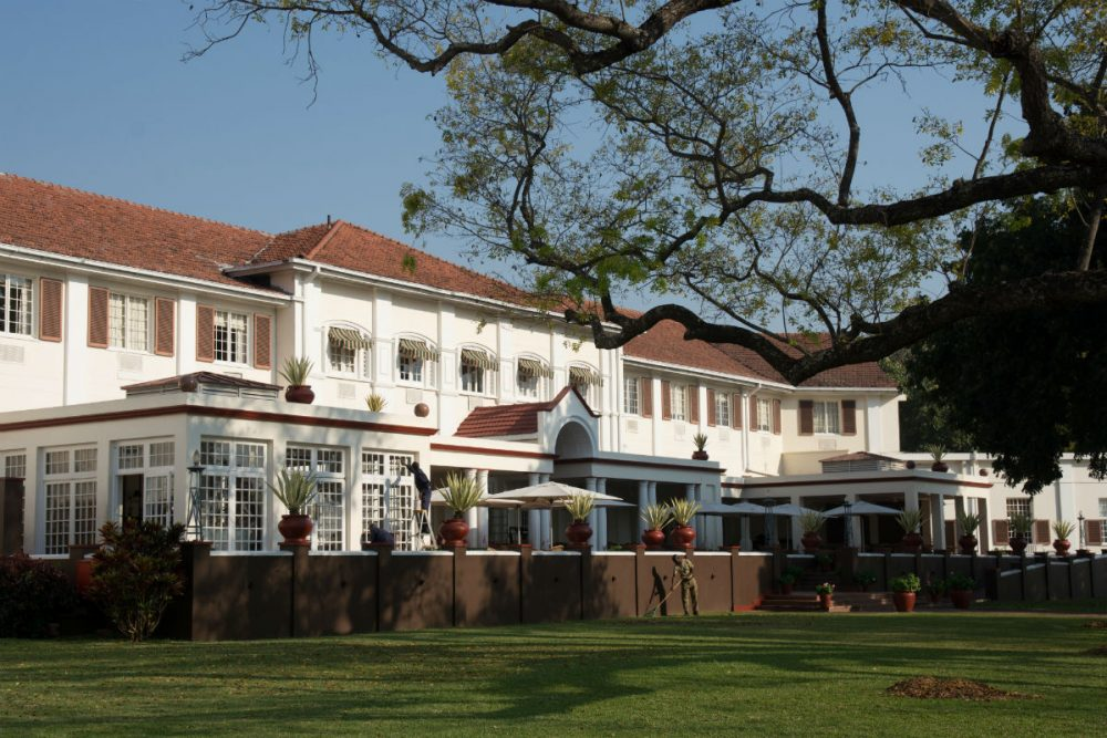 7. The Victoria Falls Hotel's Terrace where high tea is served each afternoon.