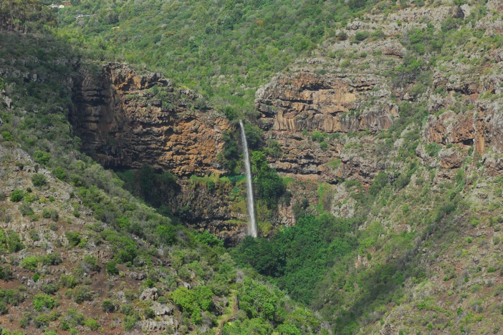 St. Helena island's heart-shaped waterfall