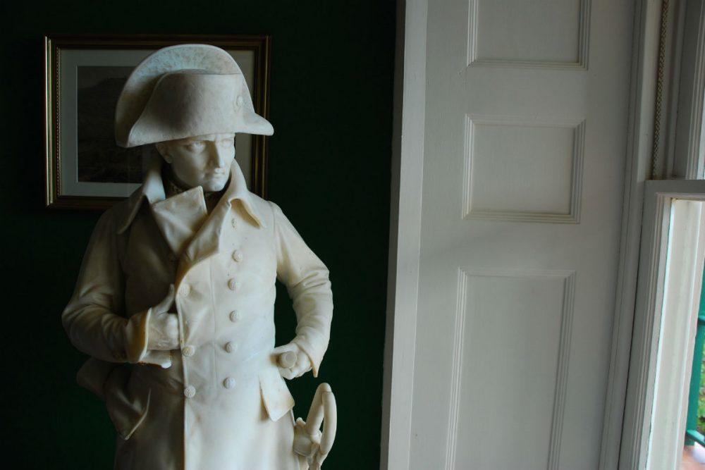 Napoleon statue on St. Helena island