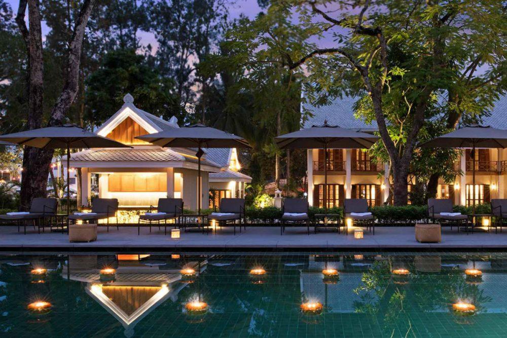 pool at the Azerai hotel in Luang Prabang, Laos