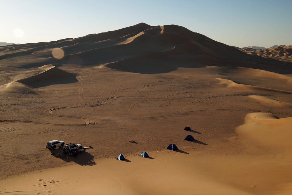 Camping in Rub al Khali, the Empty Quarter, Oman