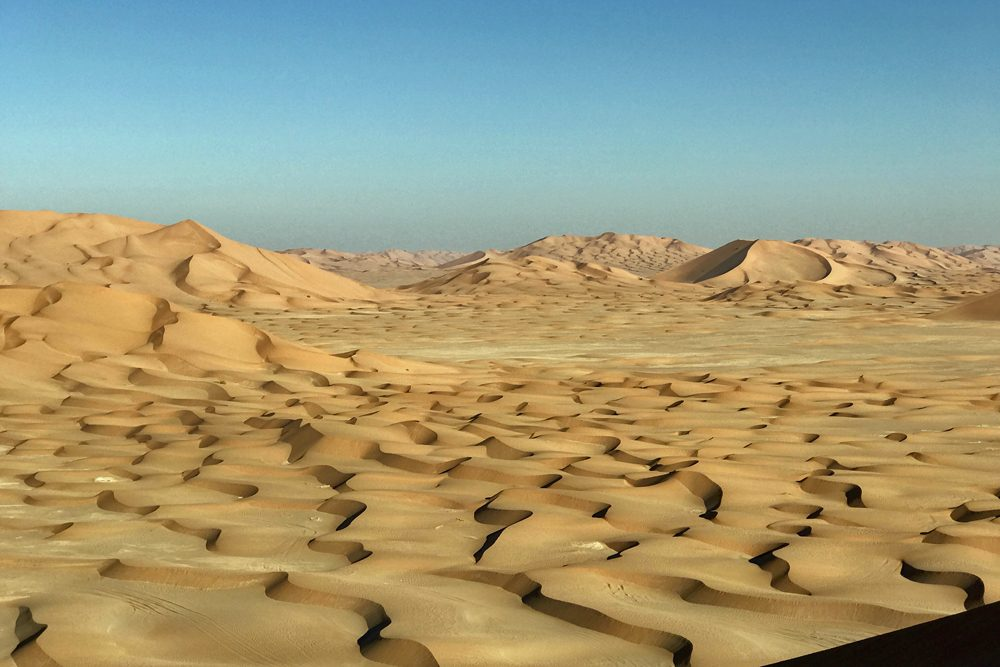 The Dunes of the Empty Quarter in Oman, the largest continuous sand desert in the world.