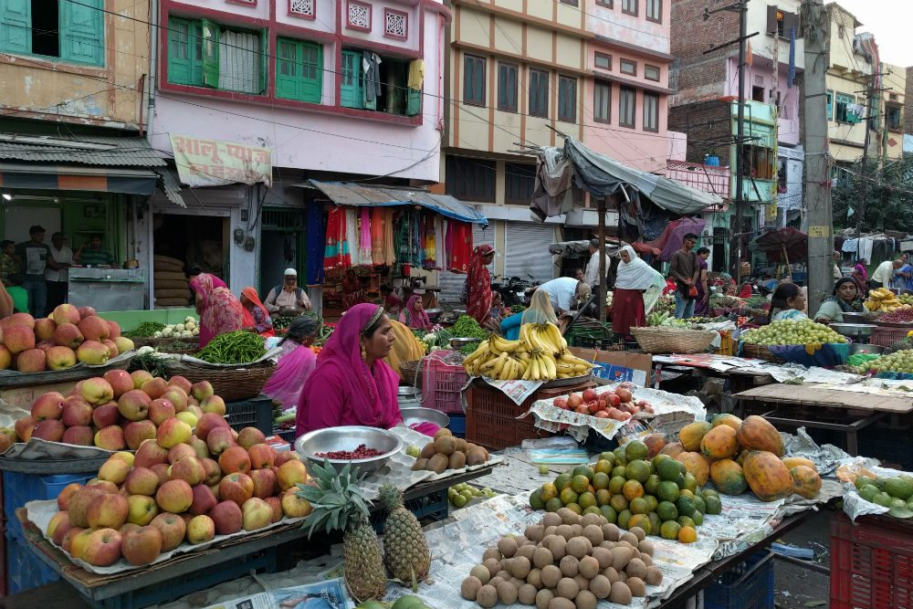 fruit market in Udaipur India